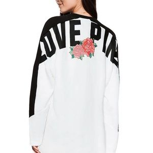 NWt Victoria Secret Pink rose sweatshirt